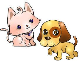 nº 7 pour Concept art for a virtual pet game: kitten and puppy par chubi91