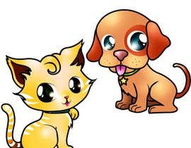 nº 16 pour Concept art for a virtual pet game: kitten and puppy par chubi91