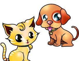 #16 para Concept art for a virtual pet game: kitten and puppy por chubi91