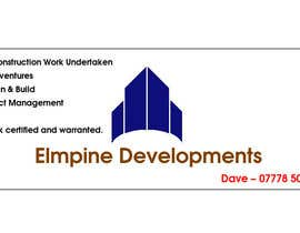 #23 para Design a Banner for 'Elmpine Developments por burhan102