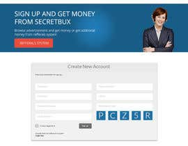 nº 17 pour SecretBUX - Website Mockup (Design Only) par gitaadi