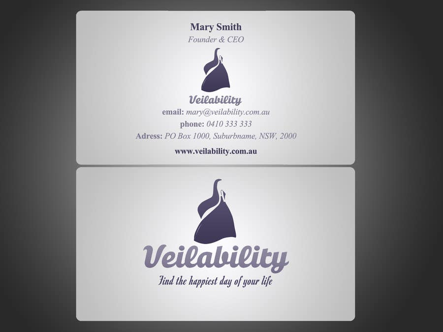 Penyertaan Peraduan #8 untuk Business Cards + Digital Signature for disruptive wedding portal