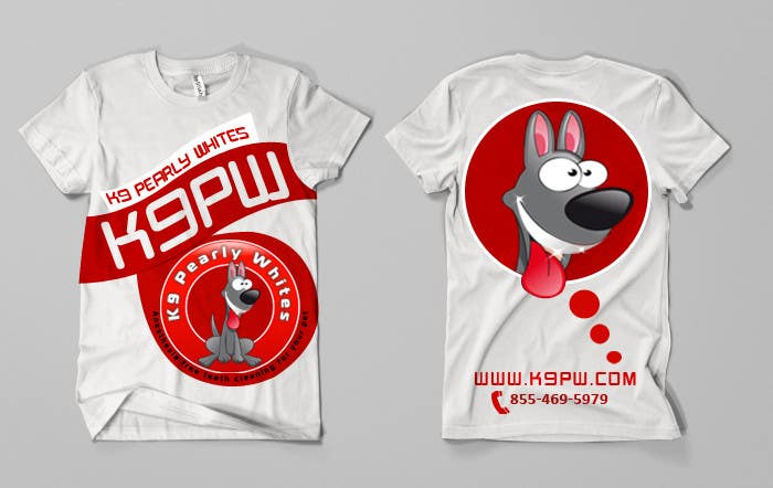 Proposition n°                                        29                                      du concours                                         T-shirt Design for K9 Pearly Whites