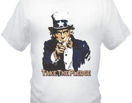 #4 para Design a Take The Pledge T-shirt (Uncle Sam) por bacujkov