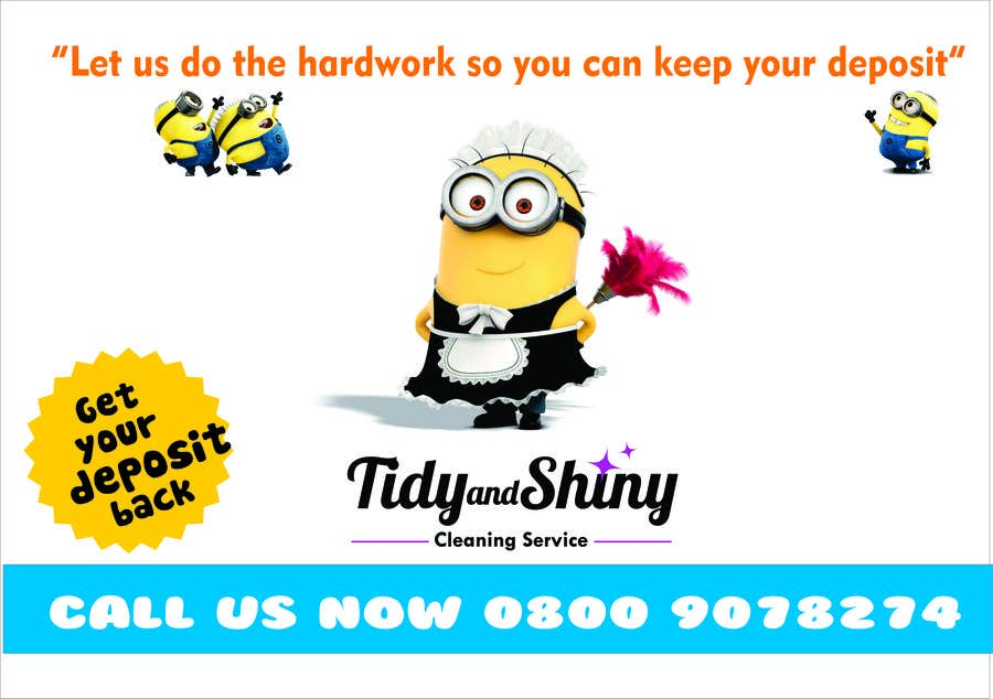 #9 for Design a Flyer that appeals to STUDENTS for a Domestic Cleaning Company by navaneethmuthu