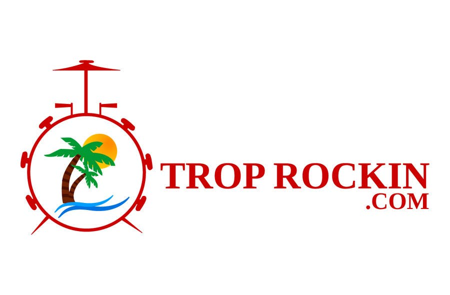 Logo Design tropical music theme blog