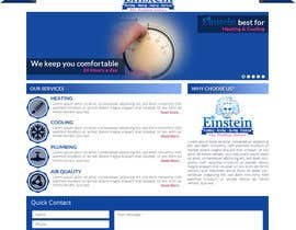 #7 for HVAC Company need home page mock-up. af sharpBD