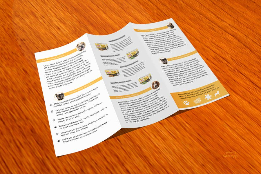 #19 for Design a Flyer for Healthy natural pet dog Treats by amitpadal