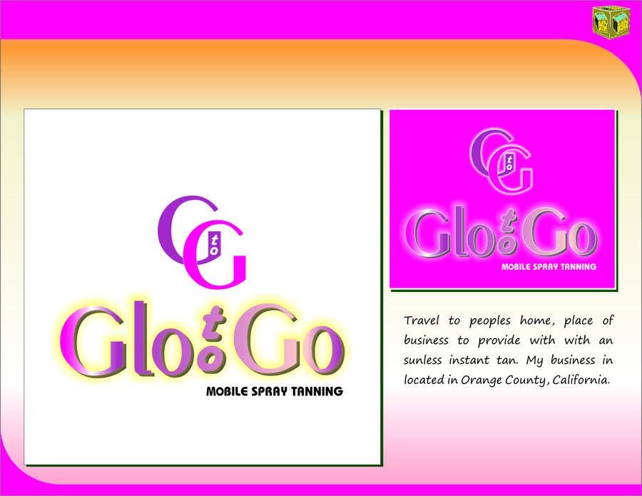 Bài tham dự cuộc thi #                                        49                                      cho                                         Logo Design for Glo to Go Mobile Spray Tanning