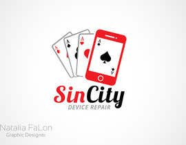 #117 untuk Design a Logo for a Cell Phone Repair Company in Las Vegas - Sin City oleh NataliaFaLon
