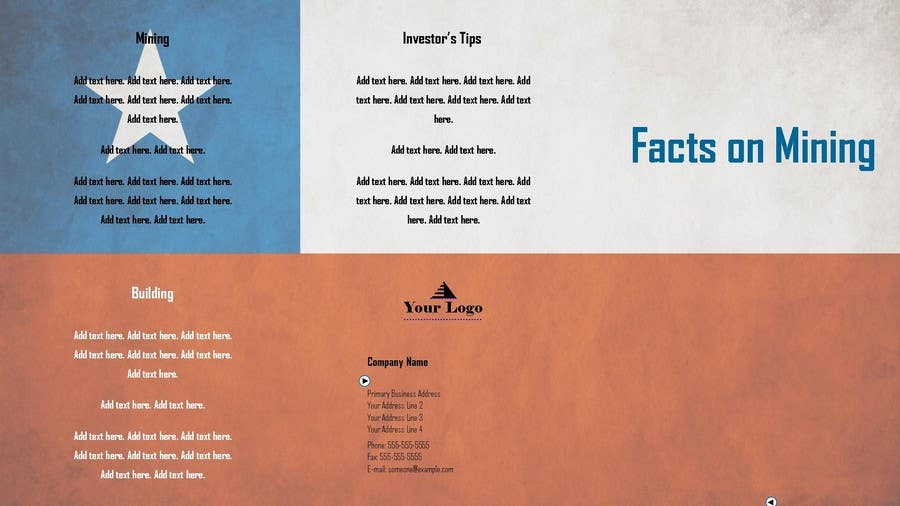 Bài tham dự cuộc thi #                                        2                                      cho                                         Design a Brochure for Mining in Chile