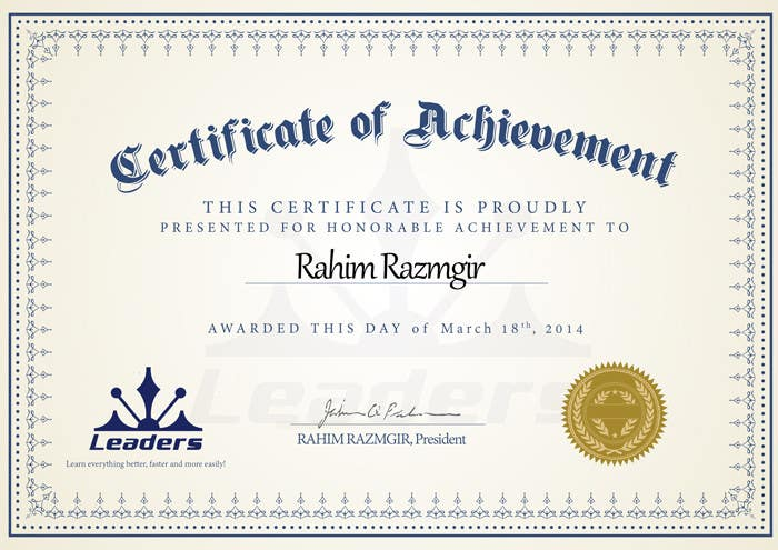 Certificate design – Winner Certificates