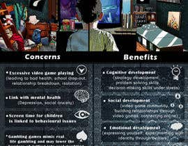nº 9 pour Make an illustration/photo that visualizes benefits and concerns of playing video games par Moesaif