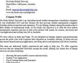 Femiabi tarafından write a professional company profile for a new student immigration company için no 10