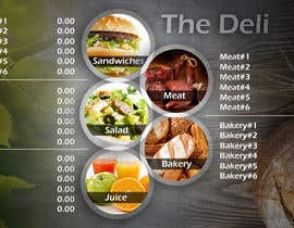 nº 26 pour Menu Design for Deli par GCKdsgn