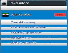 #21 para Design main and detail pages for travel security app on Blackberry por burhan102