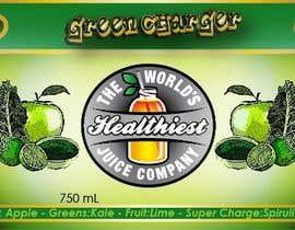 Nro 19 kilpailuun I need some Graphic Design for Green Juice Label käyttäjältä rachelbreizes