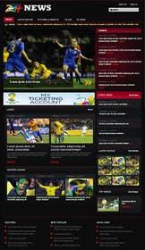#1 untuk Design a Website Mockup for soccer / football forum oleh zicmedia