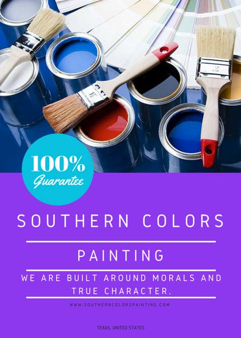 Entry 1 By Veradee For Design A Flyer For My Paint Company The Name Of My Company Is Southern Colors Painting And I M From Texas Freelancer