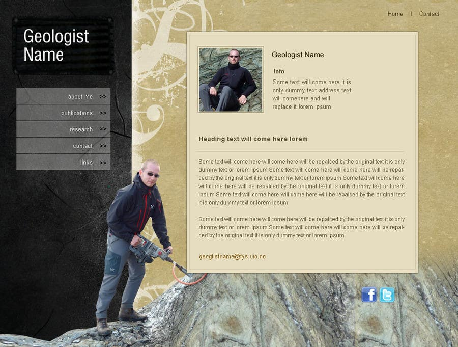 Contest Entry #89 for Personal Page (CV Website)