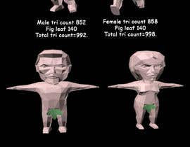 paulhumphreys9 tarafından Male + Female Chibi nude models rigged (with fig leaf) için no 4