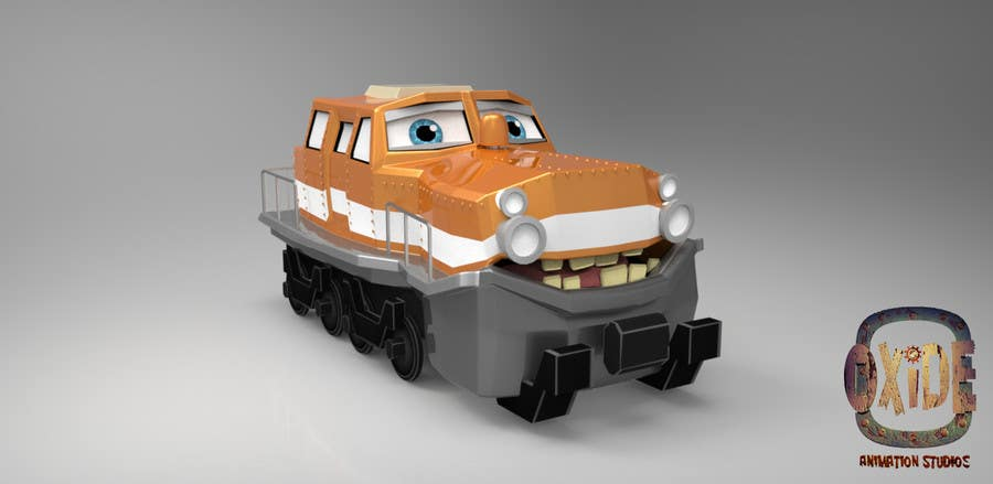 #21 for 3D-model of a quirky locomotive by OxideAnimation