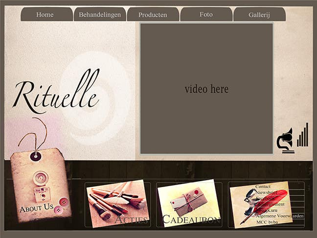 #9 for Design Vintage look for website Beauty Salon by mnet420