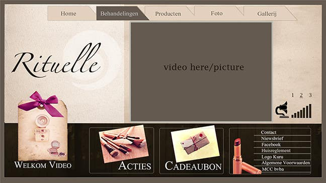 #10 for Design Vintage look for website Beauty Salon by mnet420