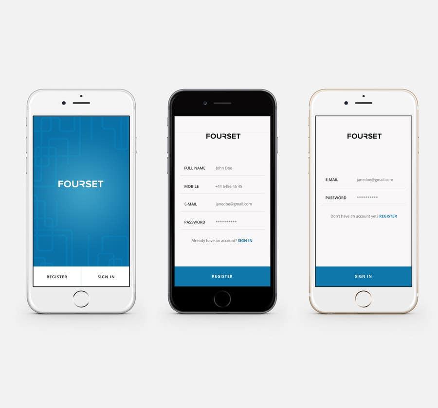 Design An App Home/Register/Sign In Screen In PSD/Sketch