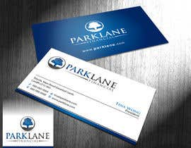 #39 untuk Business Card Design for Park Lane Financial oleh Brandwar