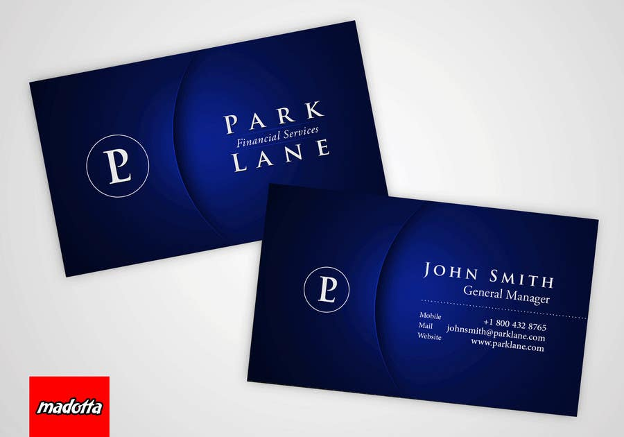 #15 for Business Card Design for Park Lane Financial by madotta
