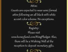 petersamajay tarafından Golden ticket wedding invitation için no 6