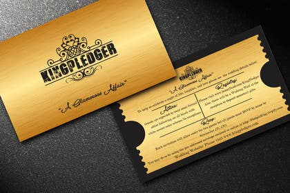 reshmihalder tarafından Golden ticket wedding invitation için no 14