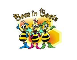 #113 для Bees in Boots Logo Design от manikmoon