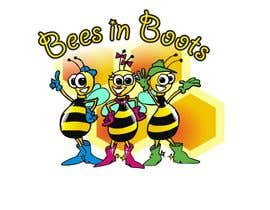 #84 for Bees in Boots Logo Design af manikmoon