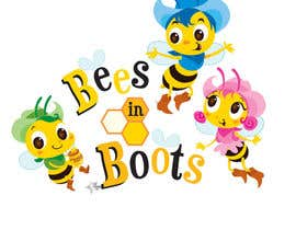 #144 для Bees in Boots Logo Design от clagot
