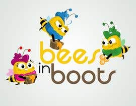 #33 для Bees in Boots Logo Design от STrangethoughts