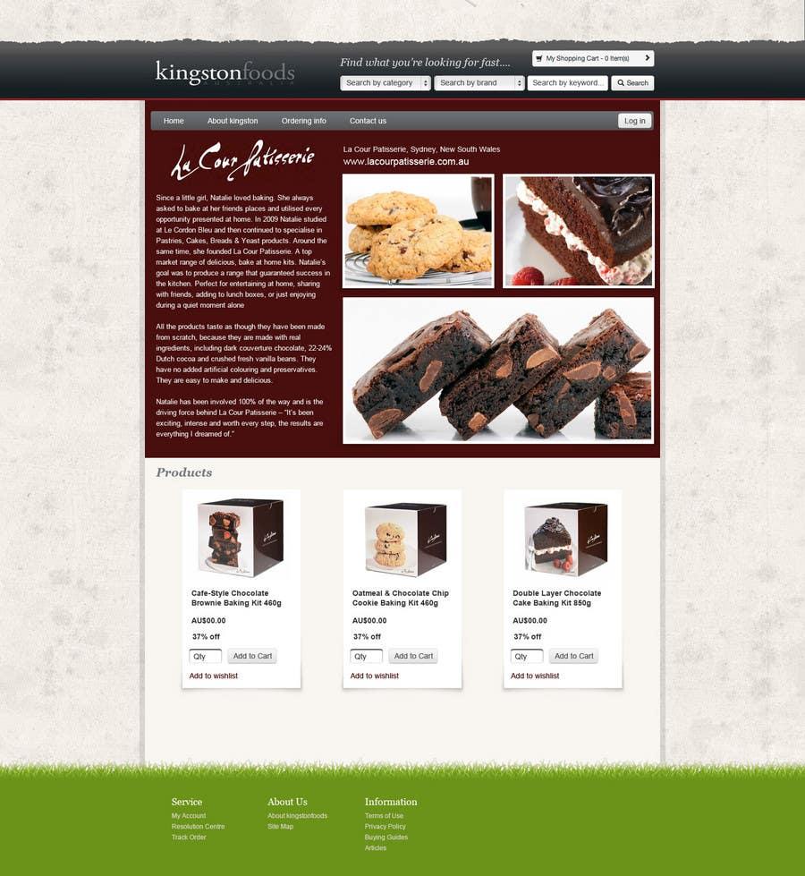 Bài tham dự cuộc thi #41 cho Website Design for Kingston Foods Australia