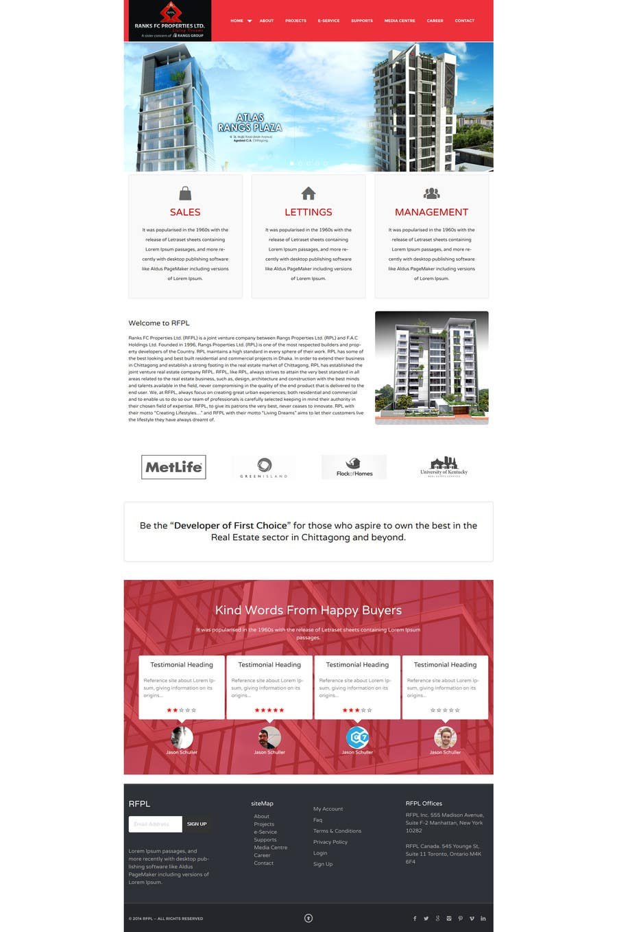 #4 for Design a Website Mockup for realestate site by GemIT