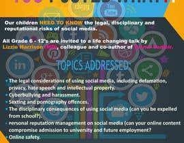 maatru tarafından POSTER TO PROMOTE A SAFE SOCIAL MEDIA TALK AT A SCHOOL için no 12