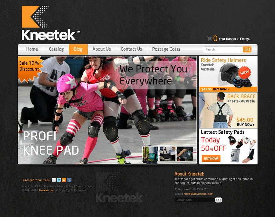 Contest Entry #52 for Website Design for KNEETEK.NET