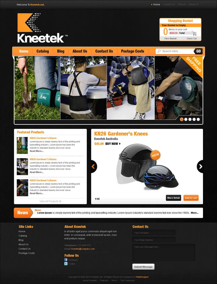 Contest Entry #                                        50                                      for                                         Website Design for KNEETEK.NET