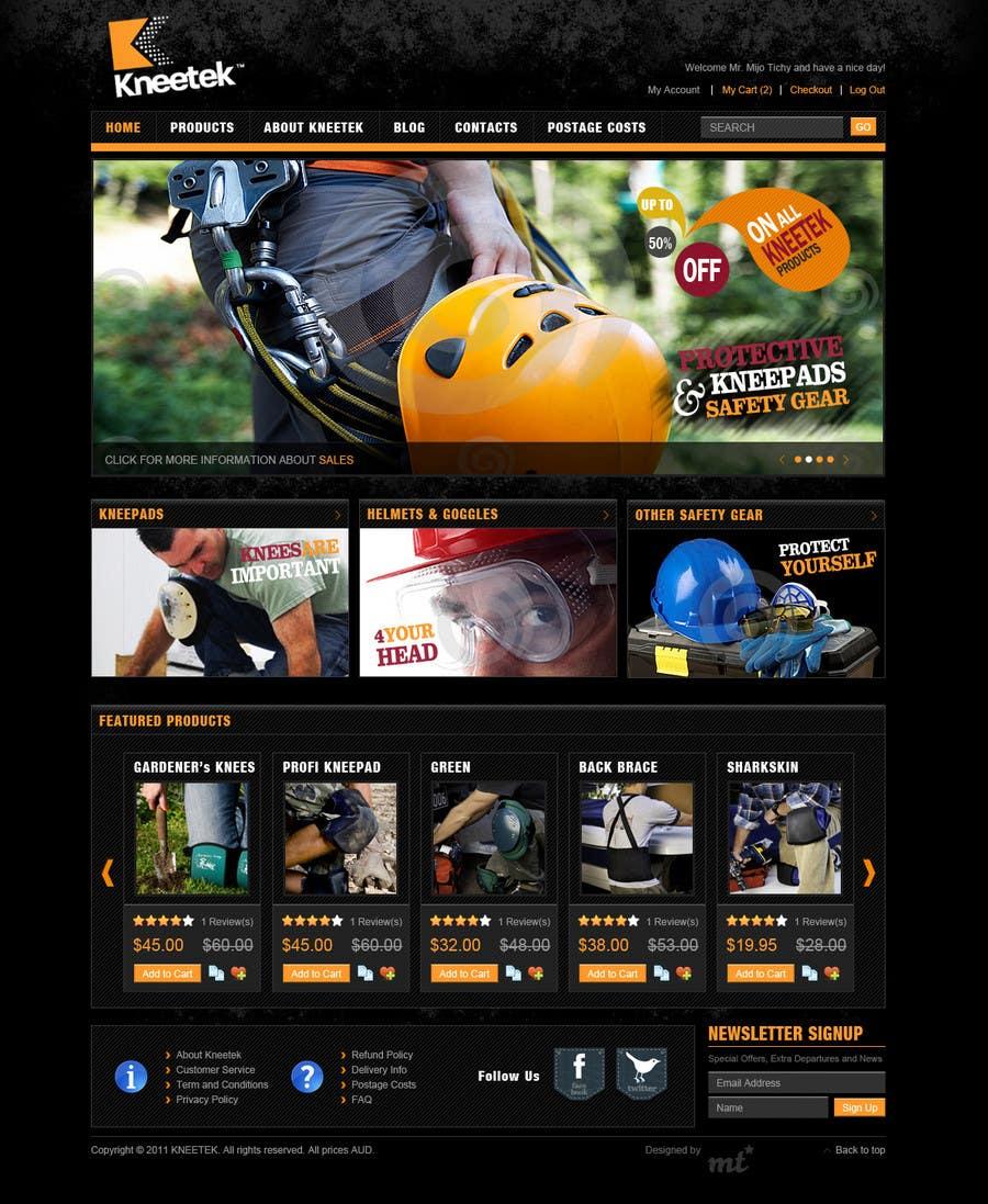 Entri Kontes #27 untukWebsite Design for KNEETEK.NET