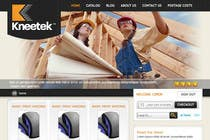 Website Design Entri Kontes #31 untuk Website Design for KNEETEK.NET