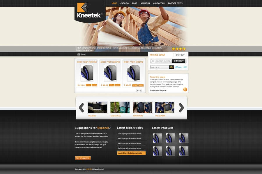 Tävlingsbidrag #30 för Website Design for KNEETEK.NET