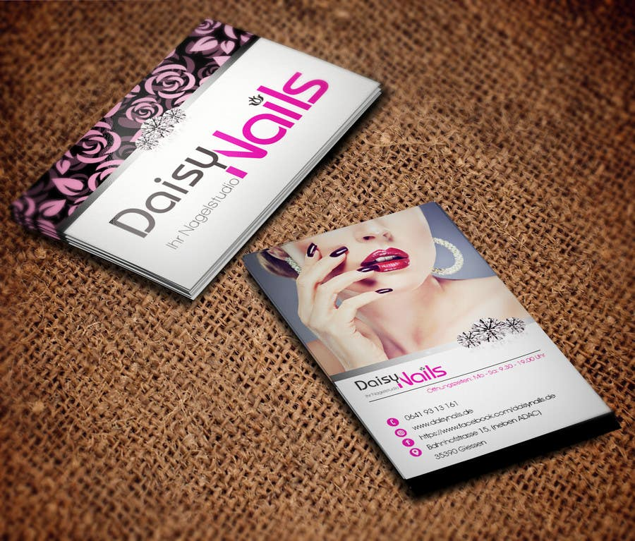 #32 for Design some Business Cards for Nails Studio by RERTHUSI