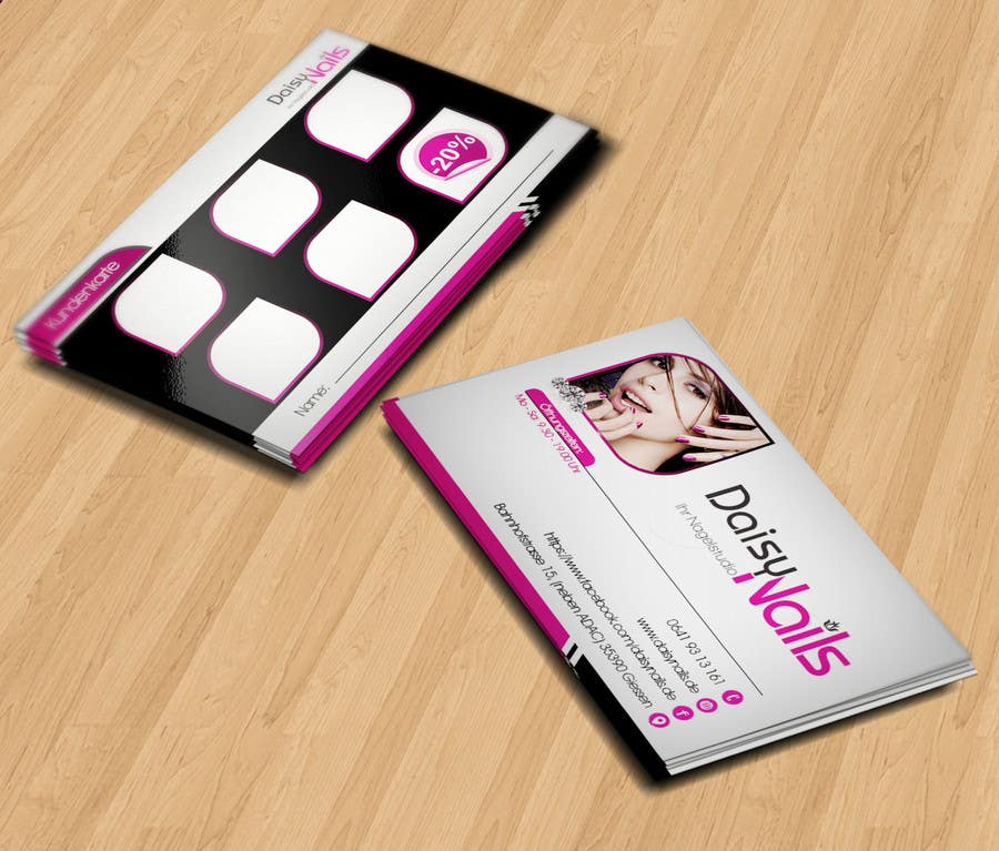 #97 for Design some Business Cards for Nails Studio by RERTHUSI