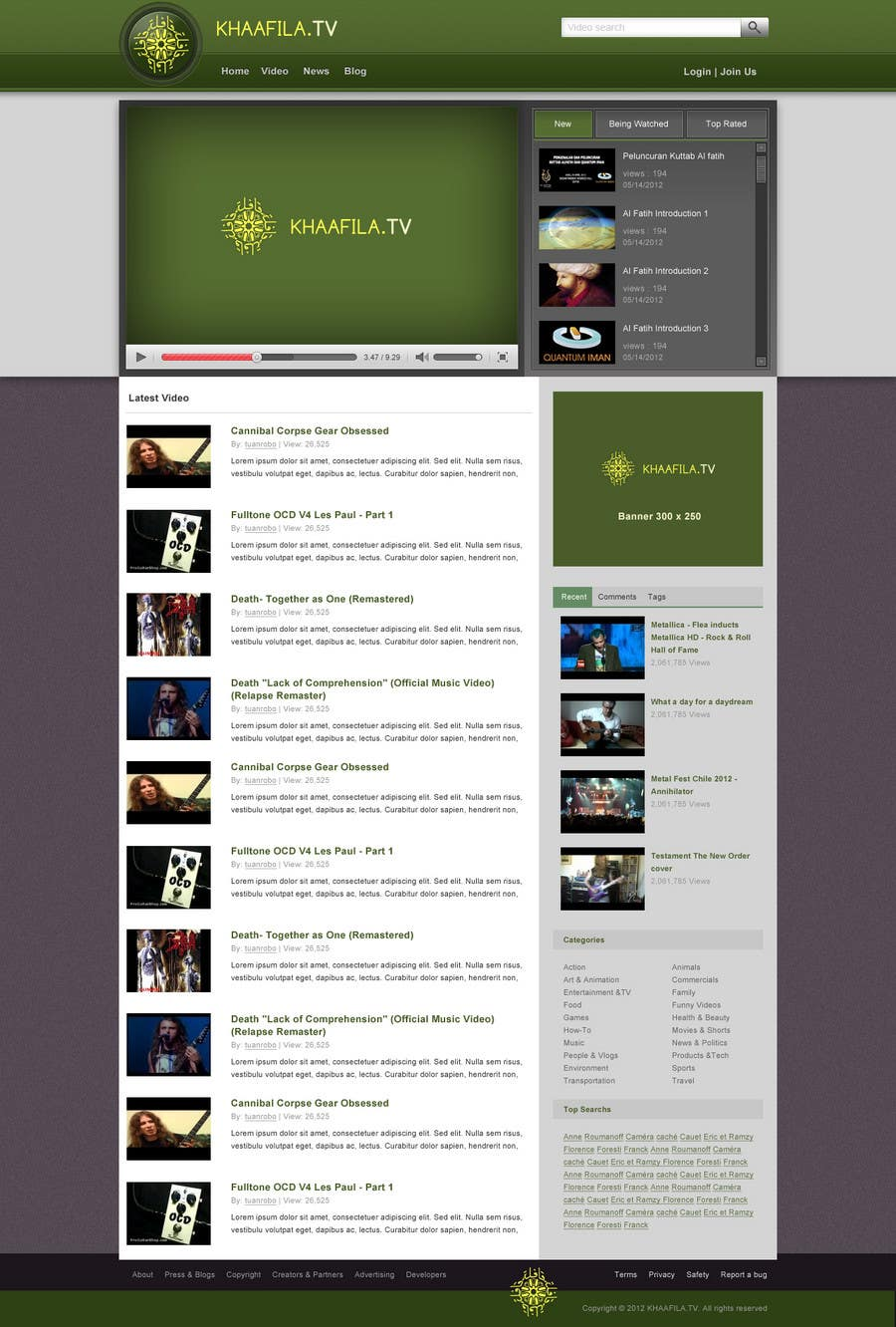 #6 for Website Design for KHAAFILA.TV  and HIJRAH.TV online televisions by tuanrobo