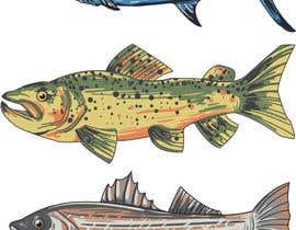 msypin tarafından Illustrate 3 species of fish to be used for embroidery için no 18
