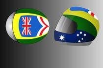 Bài tham dự #6 về Graphic Design cho cuộc thi Racing Helmet design for 9 year old boy.